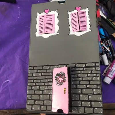 Grey Shoebox Dollhouse