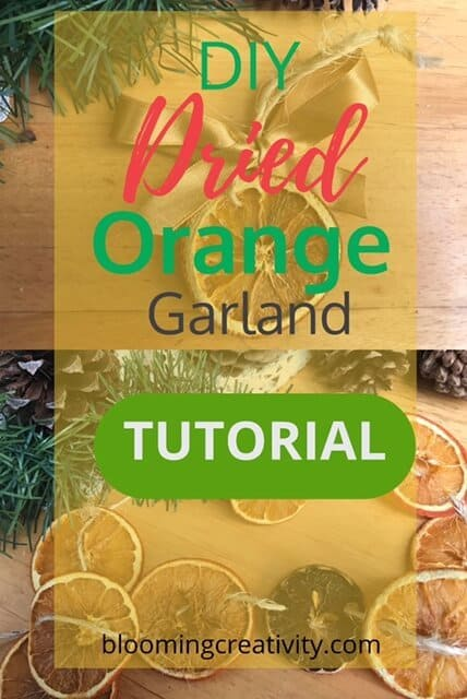 DIY Dried Orange Garland Tutorial